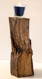 Holzscheite mit Möbelöl versiegelt.