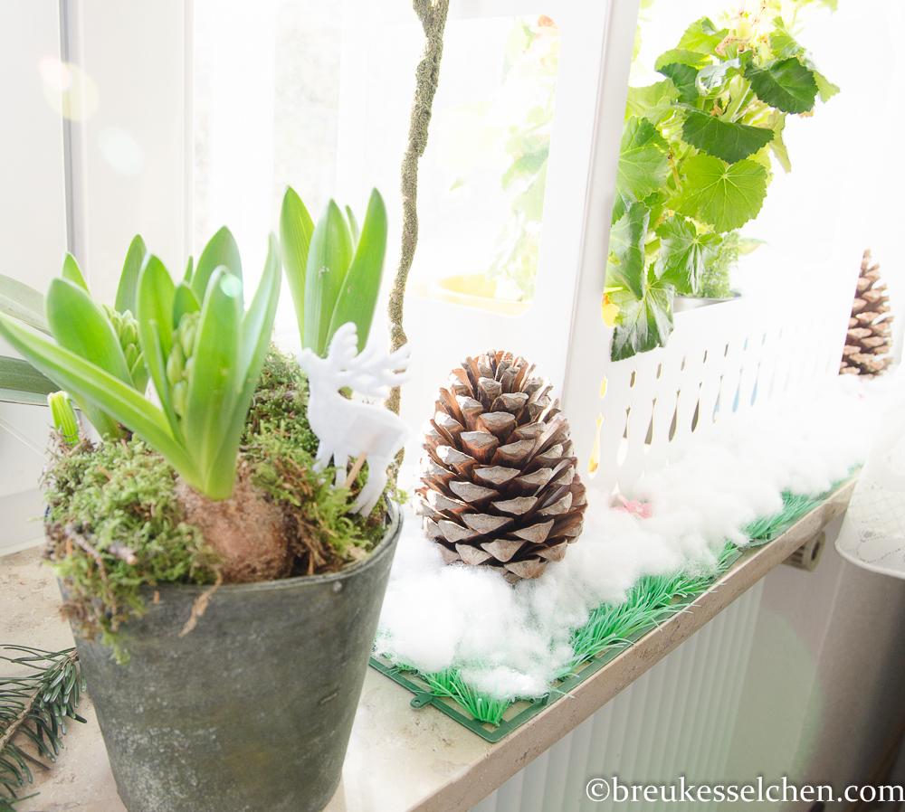 gr ne weihnachten und winterliche deko breukesselchen. Black Bedroom Furniture Sets. Home Design Ideas