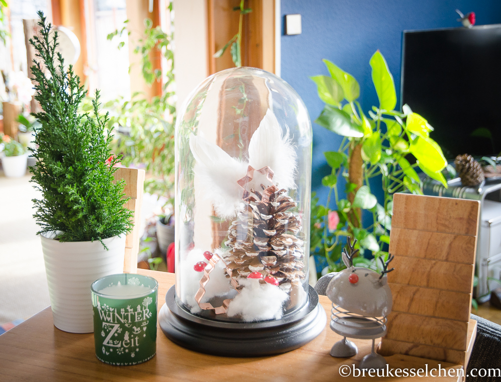 Grüne Weihnachten und winterliche Deko