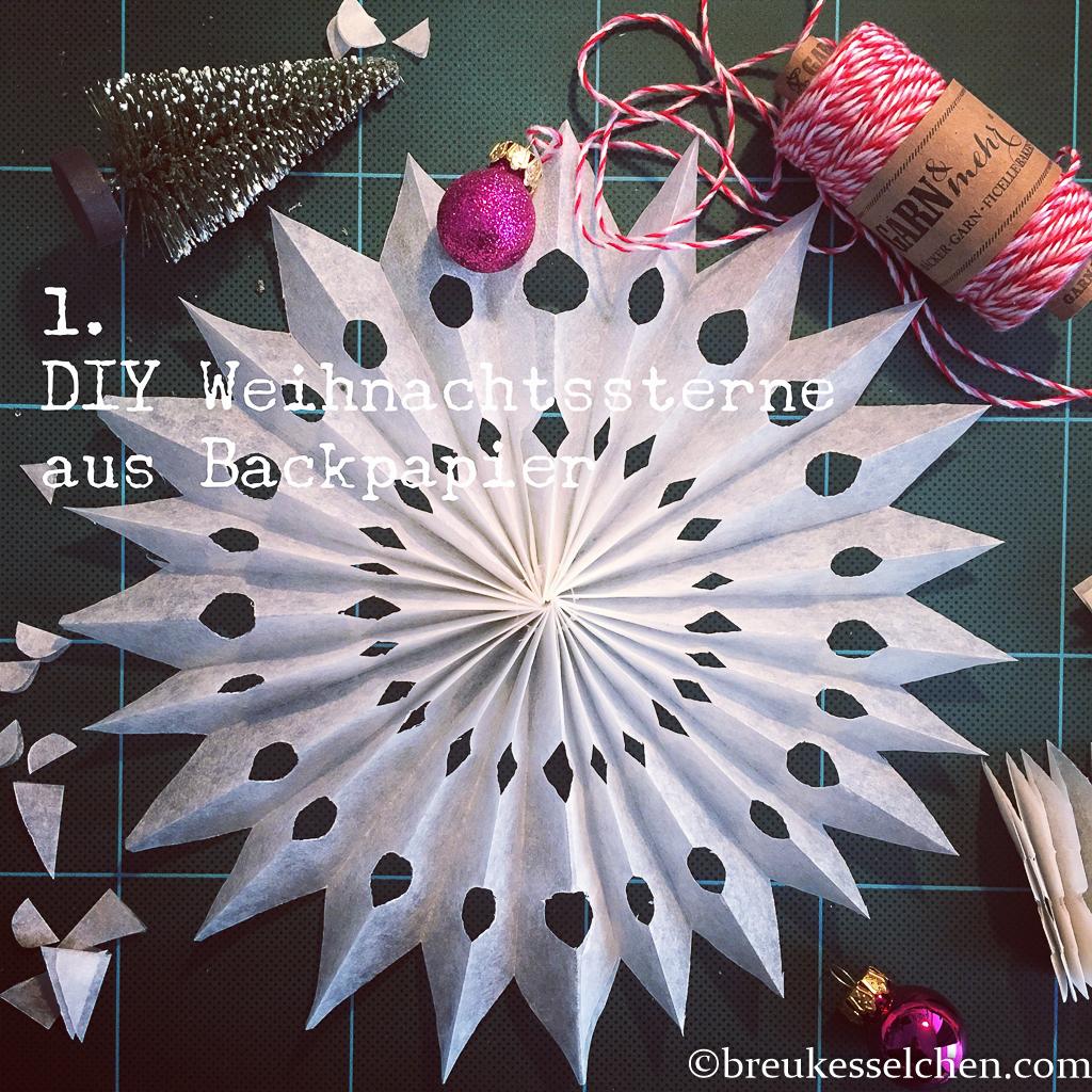 1. DIY Weihnachtsstern aus Backpapier (15)